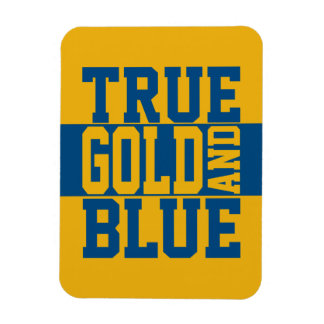 True WVU Gold And Blue Magnet