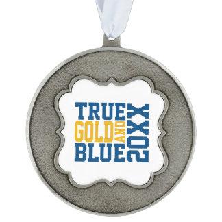 True WVU Gold And Blue Ornament