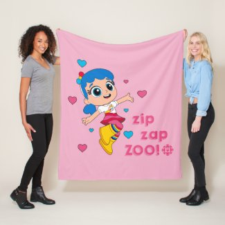 True - Zip Zap Zoo Fleece Blanket