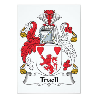 Truell Family Crest 5x7 Paper Invitation Card