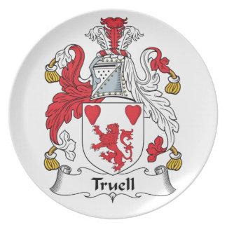 Truell Family Crest Dinner Plates