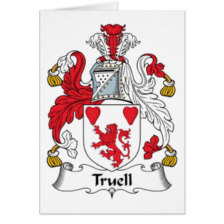 Truell Family Crest Greeting Card