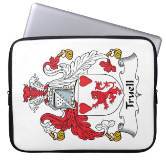 Truell Family Crest Laptop Sleeves
