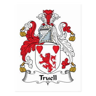 Truell Family Crest Postcard