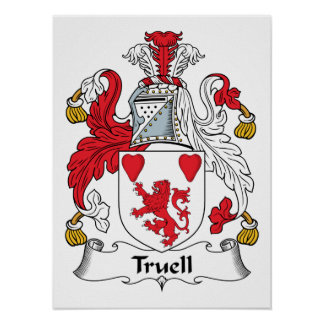 Truell Family Crest Poster