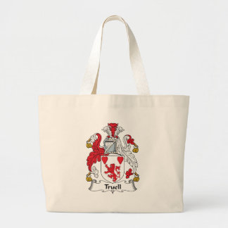 Truell Family Crest Tote Bags