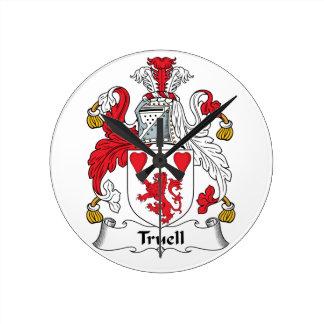 Truell Family Crest Wall Clocks