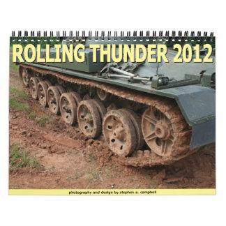 Trueno 2012 del balanceo calendarios