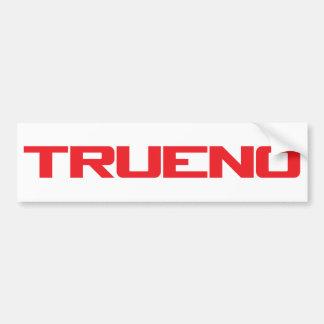 Trueno Bumper Sticker