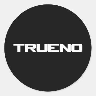 Trueno Classic Round Sticker