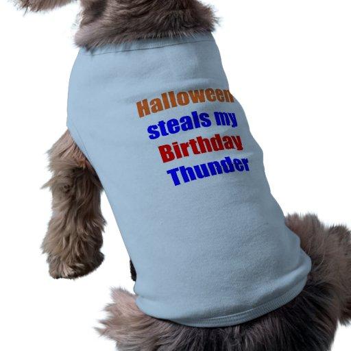 Trueno del cumpleaños de Halloween Camisetas Mascota