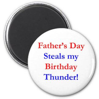 Trueno del cumpleaños del día de padre iman de nevera
