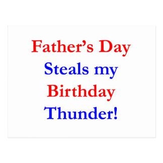 Trueno del cumpleaños del día de padre postal