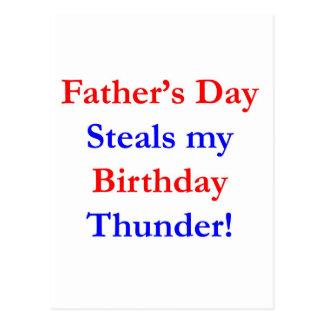 Trueno del cumpleaños del día de padre postales
