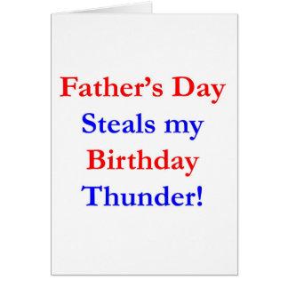 Trueno del cumpleaños del día de padre tarjeton