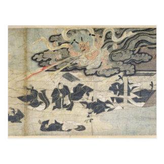 Trueno del demonio, capilla de Tenjin, período de Postales
