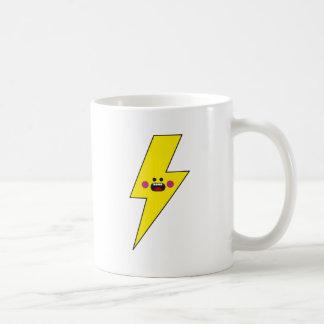 Trueno feliz taza de café