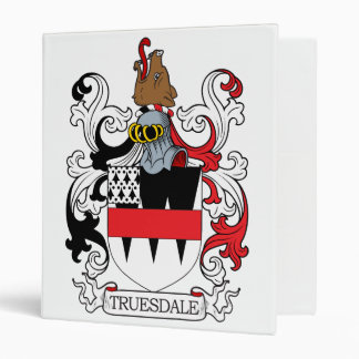 Truesdale Family Crest 3 Ring Binders