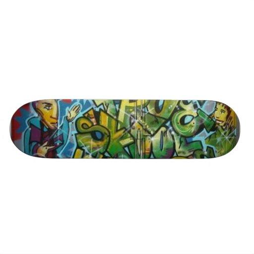 tRUESKOOL GRAPHITTI LOGO Skate Board Decks