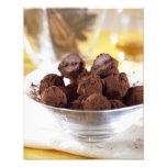 Trufas con el chocolate negro del 70% para el uso  fotos