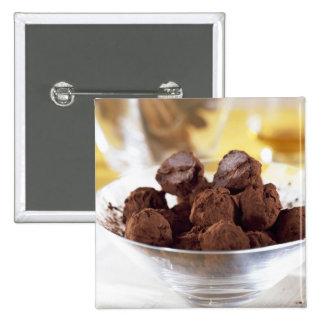 Trufas con el chocolate negro del 70% para el uso  pins