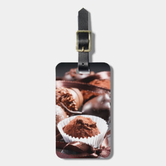 Trufas de chocolate etiqueta de maleta