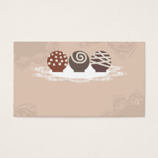truffles chocolate candy making baking business ca business card