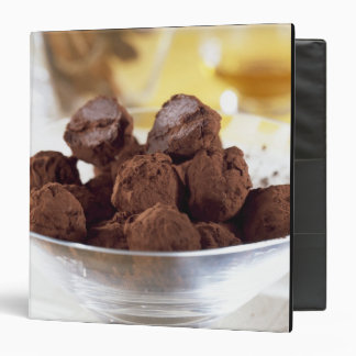 Truffles with 70% black chocolate For use in 3 Ring Binder