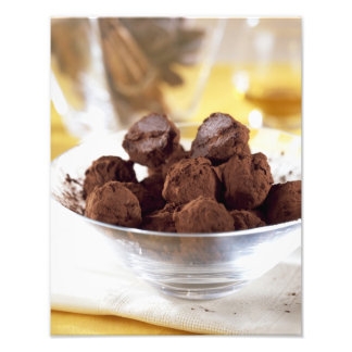 Truffles with 70% black chocolate For use in Photo Print