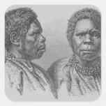Truganina, la mujer tasmana pasada pegatinas cuadradases personalizadas