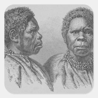 Truganina, la mujer tasmana pasada pegatina cuadrada