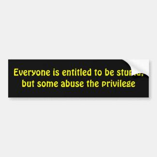 Truism Car Bumper Sticker