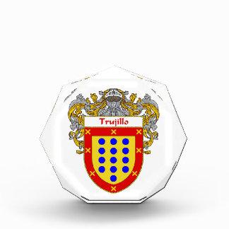 Trujillo Coat of Arms Family Crest Acrylic Award