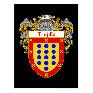 Trujillo Coat of Arms/Family Crest Postcard