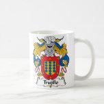 Trujillo Family Crest Classic White Coffee Mug