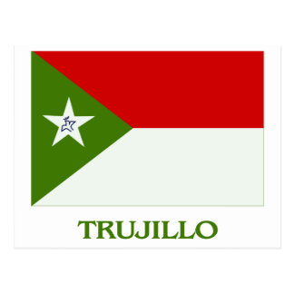 Trujillo Flag with Name Postcard