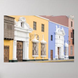 Trujillo, Perú. Arquitectura adornada de Trujillo Póster