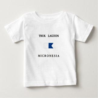 Truk Lagoon Micronesia Alpha Dive Flag Baby T-Shirt