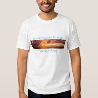 Truks y Caicos hermosos por la camiseta de la Camisas
