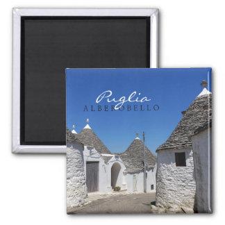 Trulli houses in Alberobello, Puglia text magnet