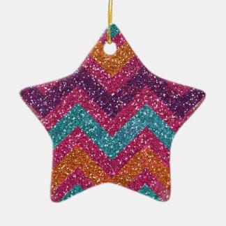 Trullo anaranjado púrpura rosado de Chevron del br Ornamento Para Arbol De Navidad