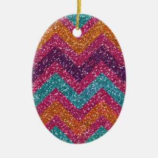 Trullo anaranjado púrpura rosado de Chevron del br Ornamente De Reyes