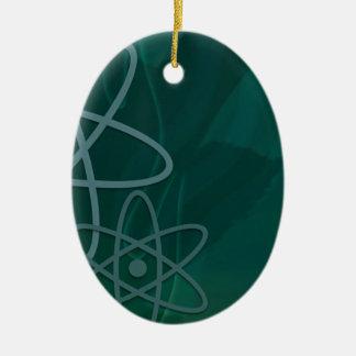 Trullo atómico adorno ovalado de cerámica