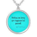 Trullo azul de neón de la cita de la felicidad de  joyerias personalizadas