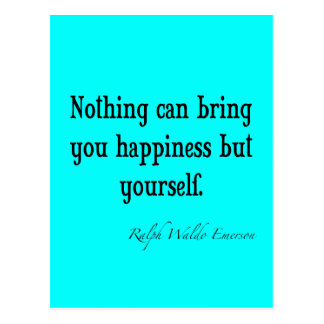 Trullo azul de neón de la cita de la felicidad de tarjetas postales