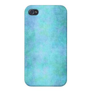 Trullo azul, púrpura, aguamarina, y acuarela viole iPhone 4/4S carcasas