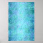 Trullo azul, púrpura, aguamarina, y acuarela viole posters