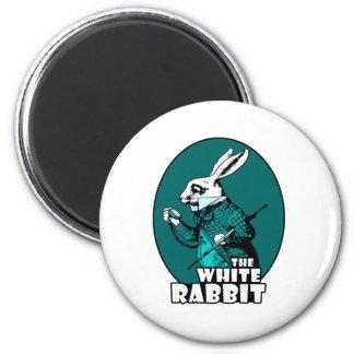 Trullo blanco del logotipo del conejo iman para frigorífico