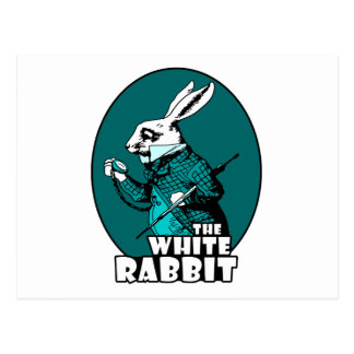 Trullo blanco del logotipo del conejo postal