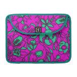 Trullo brillante y impresión floral rosada fundas para macbook pro